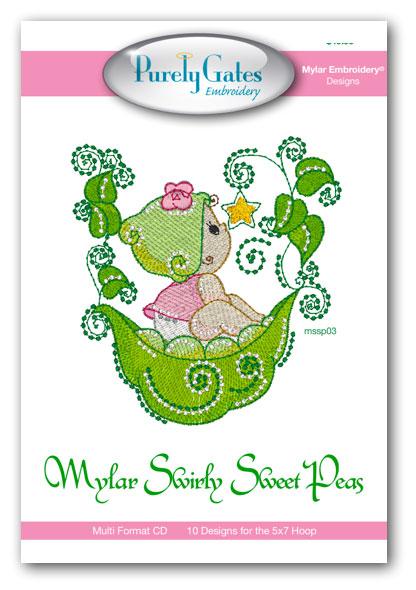Mylar Swirly Sweet Peas