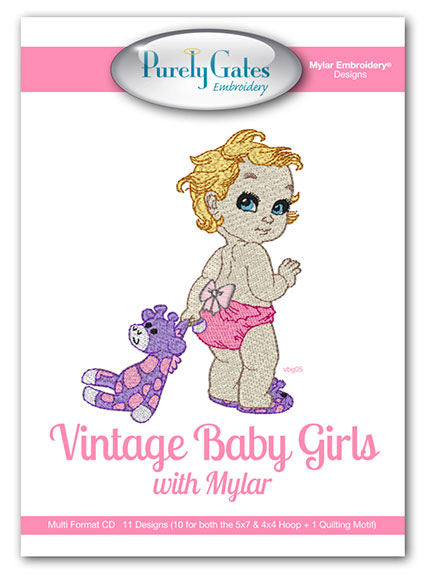 Vintage Baby Girls with Mylar