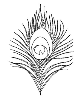 Peacock Feather Drawing Outline | www.pixshark.com ...