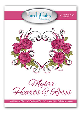 Mylar Heart and Roses