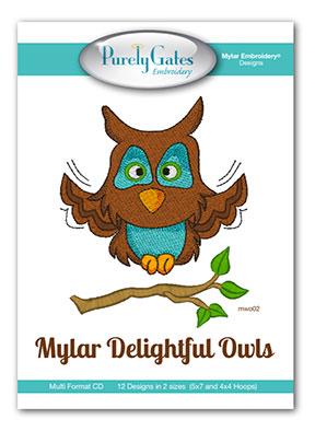 Mylar Delightful Owls