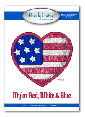 Mylar Red White and Blue