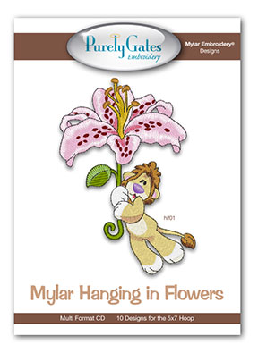 Mylar Hanging in Flowers