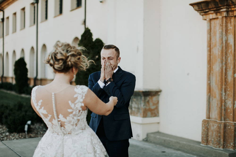 Emotional Wedding Photos | Crying Grooms | Krissie Francis Photo