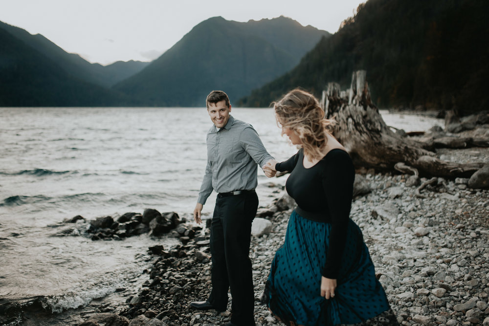 lake cushman engagement photos | Krissie Francis photo