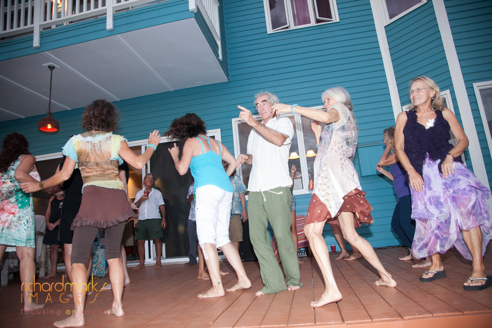 Sojourn Maui's lanai was transformed into an awesome outdoor dance floor!