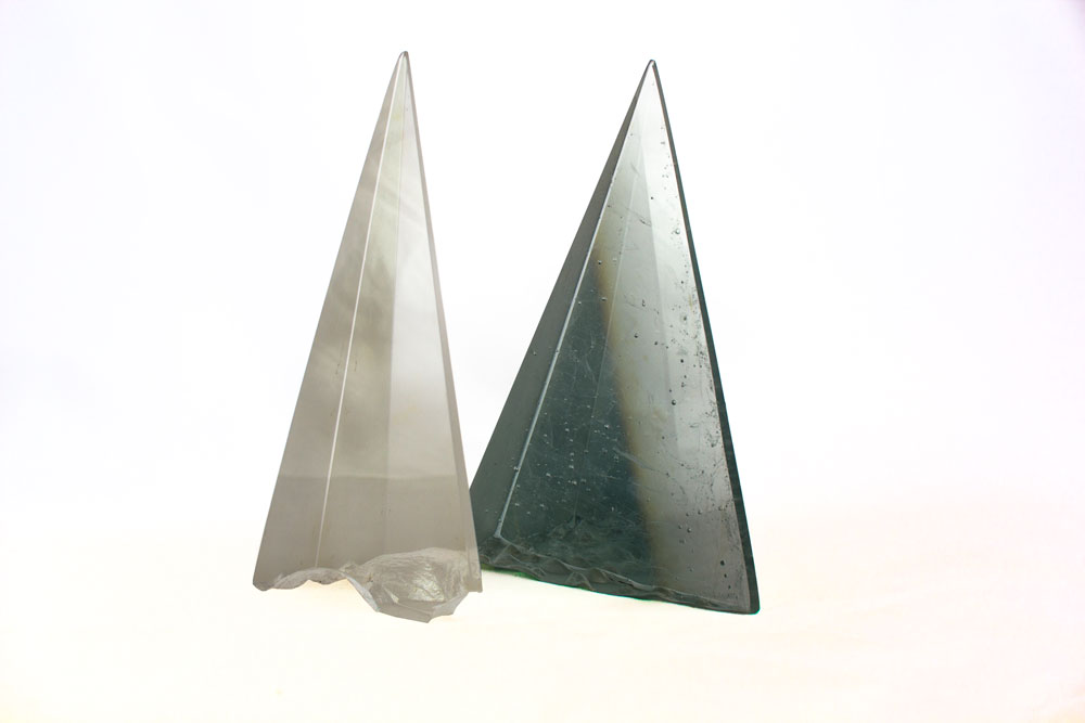 'Awards' - TV Cast Glass, coldworked & polished