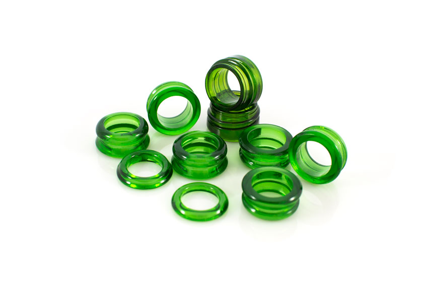 Recycled Glass Bottles - Kiln Formed Dress Rings