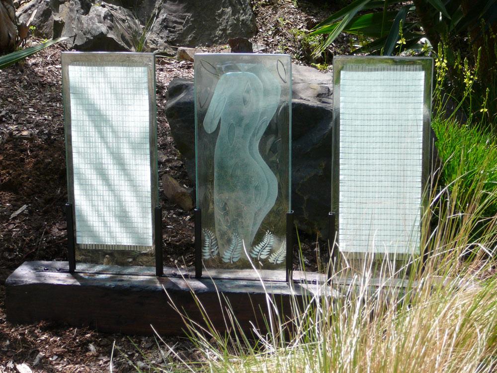 'Intimate Room' - Fused & sandblasted Float Glass panels