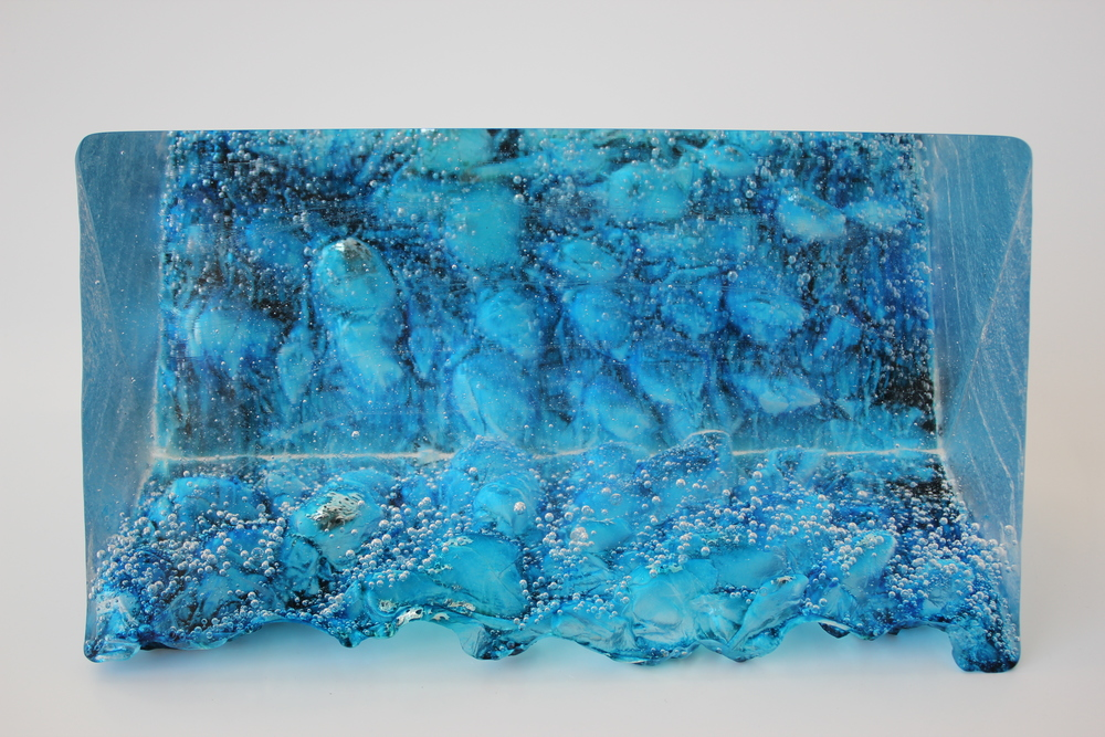 'Time for Reflection' - Kiln cast Glass & silver leaf