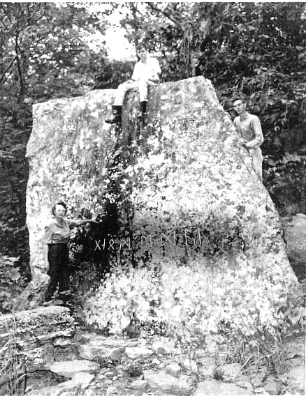 Read about the Heavener rune stone. http://www.midwesternepigraphic.org/heavener01.html