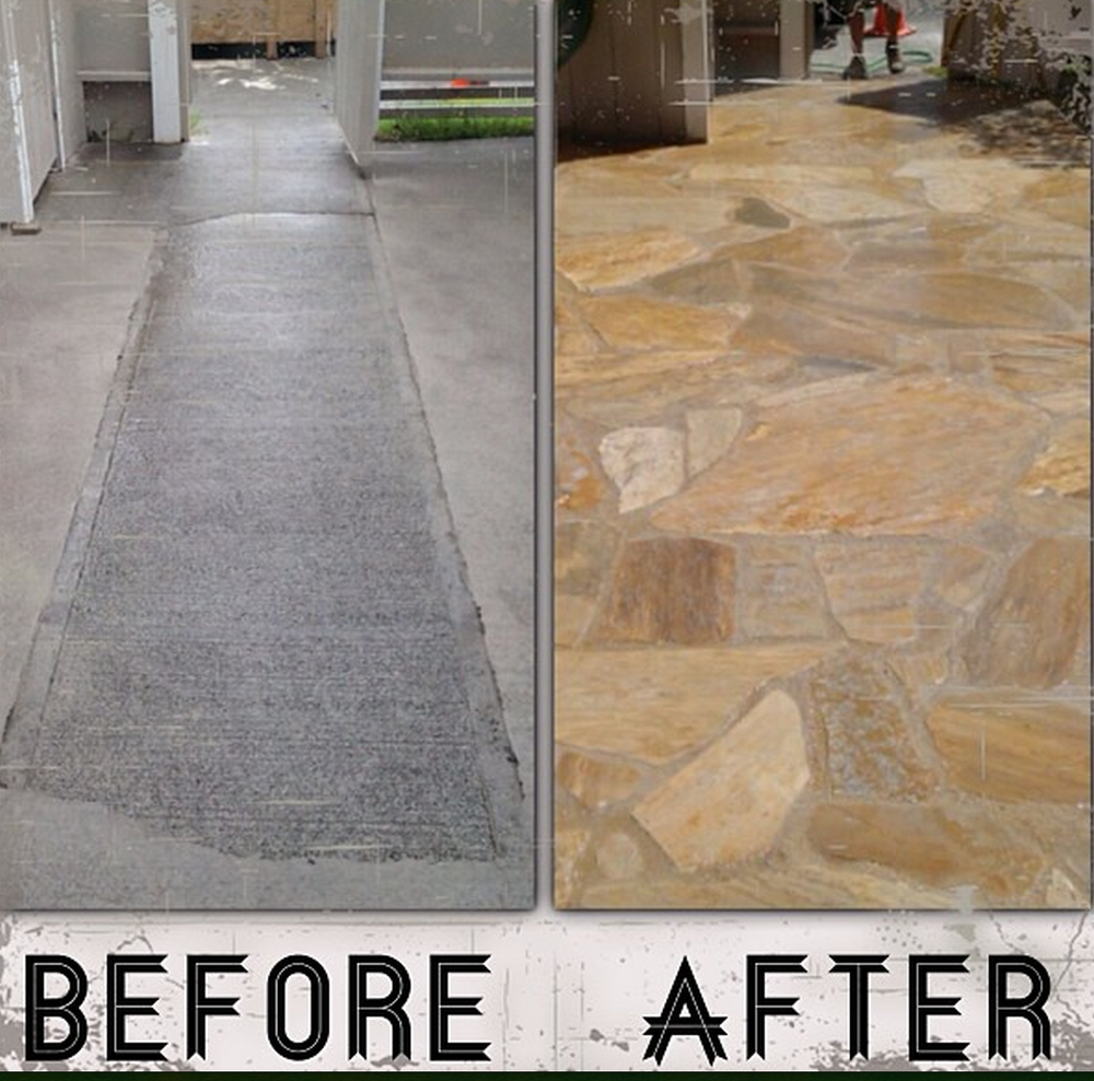 Quartzite Before and After