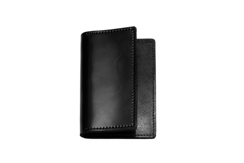 finest selection c57fb 3de4c Shell Cordovan Card Case in Black on Black