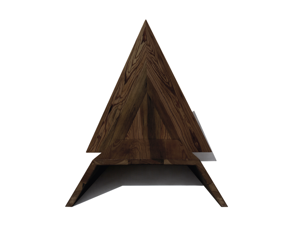 Beau ... 6triangle Chair  Black Walnut  Front View ...
