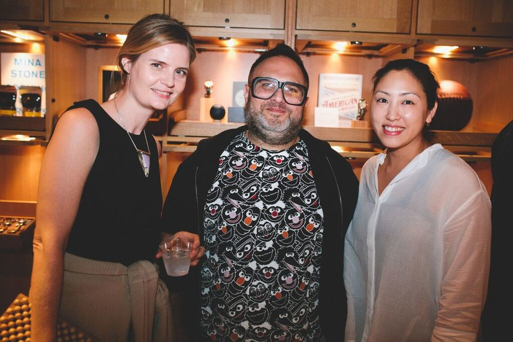 The future of your feet: LA-based shoe designers Jessica Taft Langdon of the palatines and Harel Waldman and Hsuan Pai of Wal & Pai, from left to right