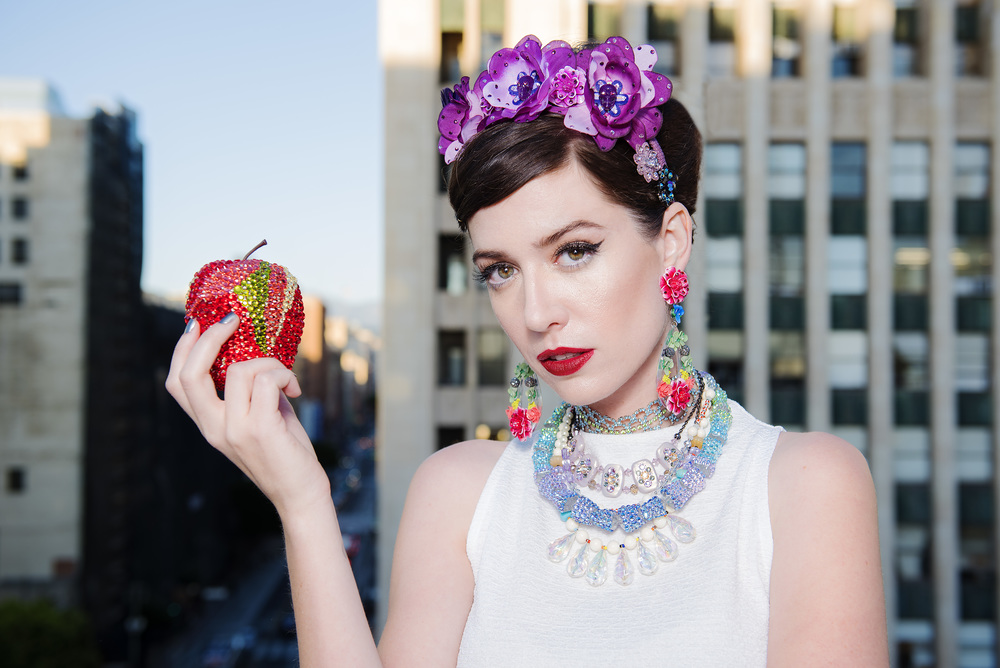 Model, Amy Roiland of A Fashion Nerd; Photography by Bobby Do Right; top by Hackwith Design House; jewelry by Tarina Tarantino; Styled by The MiA Project.