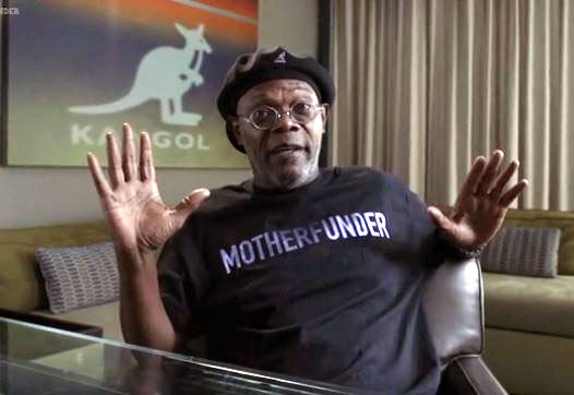 Samuel L. Jackson on Kangol's Kickstarter video, via   lancasteronline.com. Thumbnail Samuel L. Jackson photo via brandchannel.com.