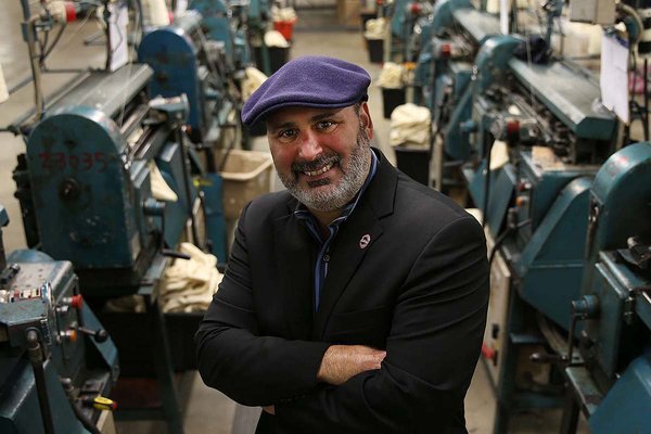 Don Rongione, CEO of Bollman Hat Co, Kangol's parent company. Photo by philly.com.