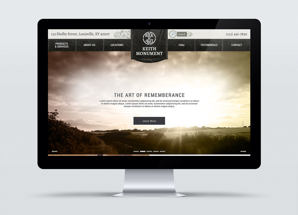 Urbach Monuments homepage. The art of remembrance.