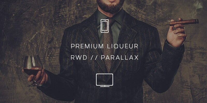 Creative direction, UX and adaptive website design for a premium liqueur brand Rivulet.