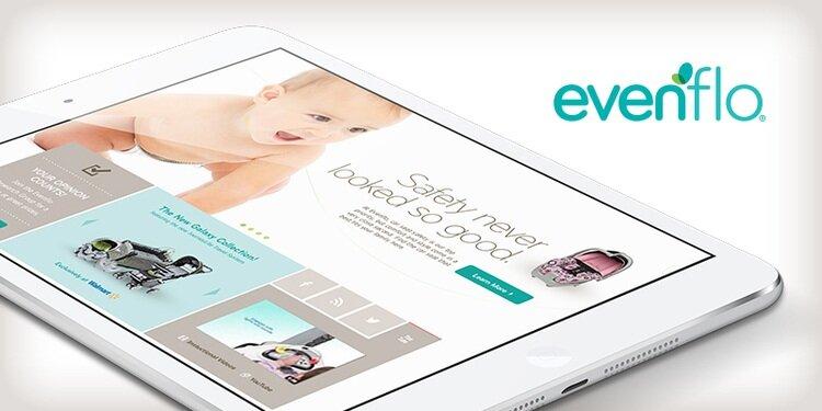 Evenflo eCommerce website design for desktop and mobile.