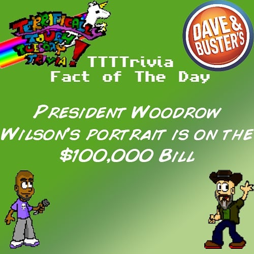 I wish I had a $100,000 bill. Come and join us for more #rich #trivia at #daveandbustershollywood 9pm on #tuesdaynight #ttttrivia #lanightlife #hollywood #trivianight #lalife #hollywoodnightlife #tuesdaytrivia