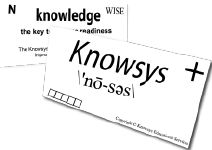 What are the components of the Knowsys Flashcard?