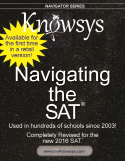 Navigating the SAT