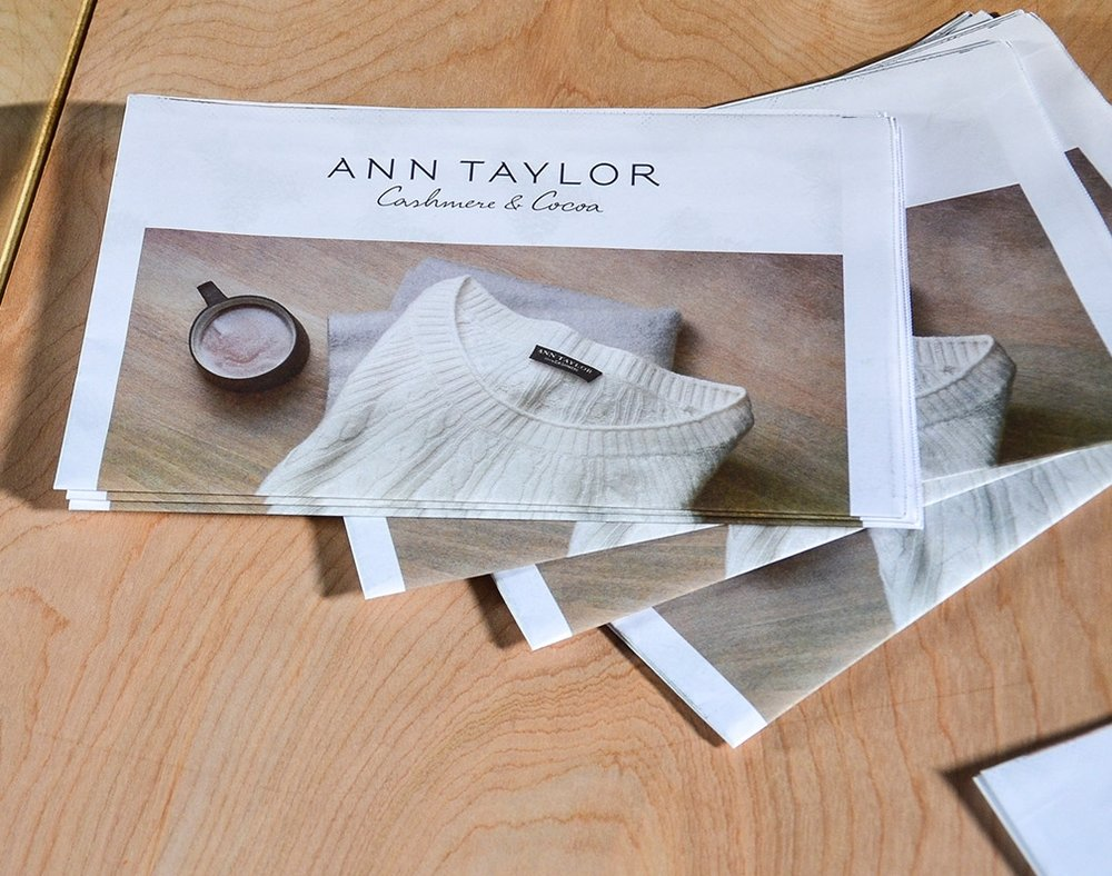 Ann Taylor | Cocoa & Cashmere Experiential & Print Concept
