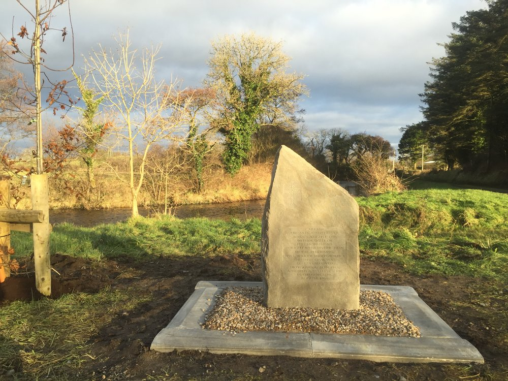 Memorial to Captain Michael Joseph Kelly, Drumanangle, Moygownagh in Mayo, Ireland.