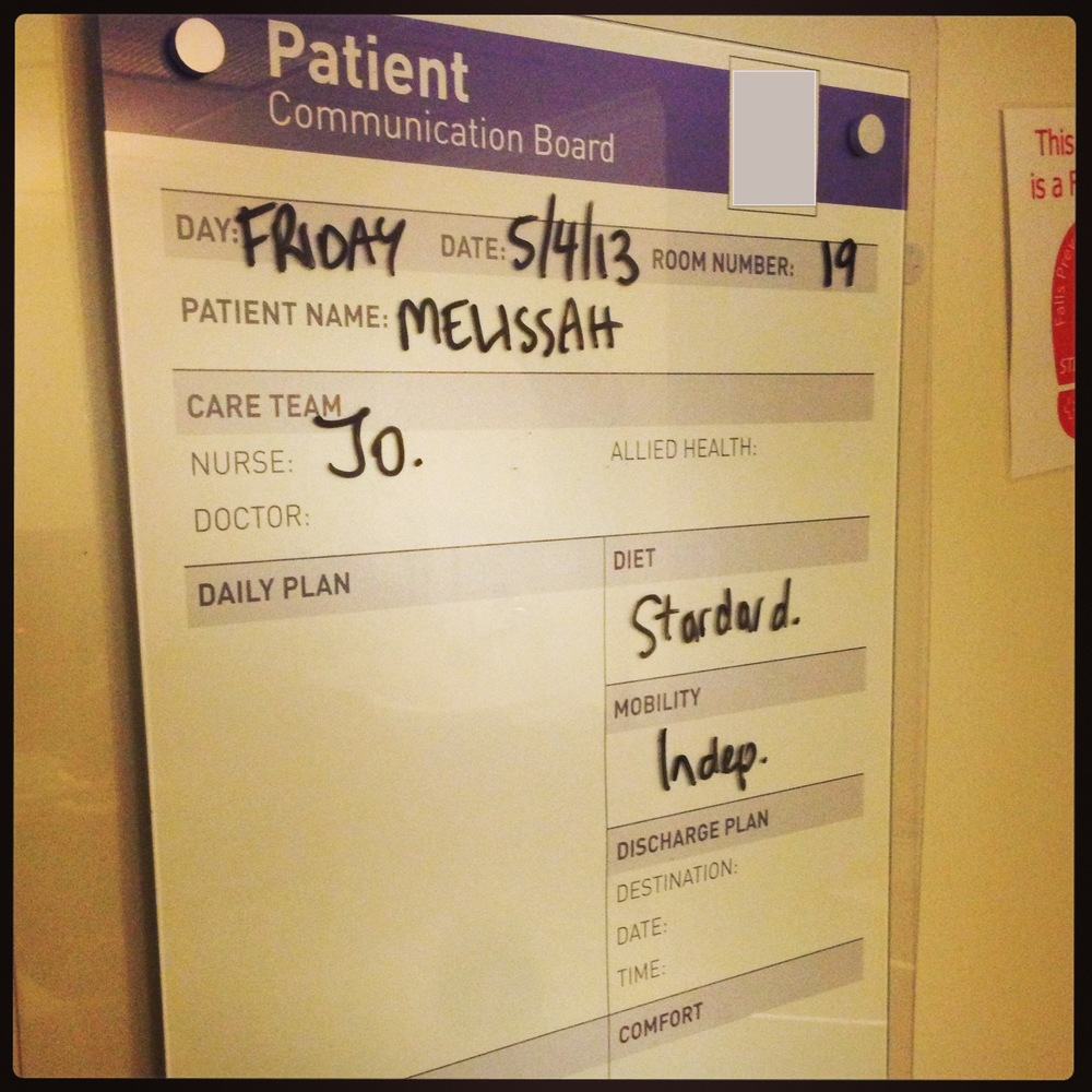 Your a real patient when your name's on the board