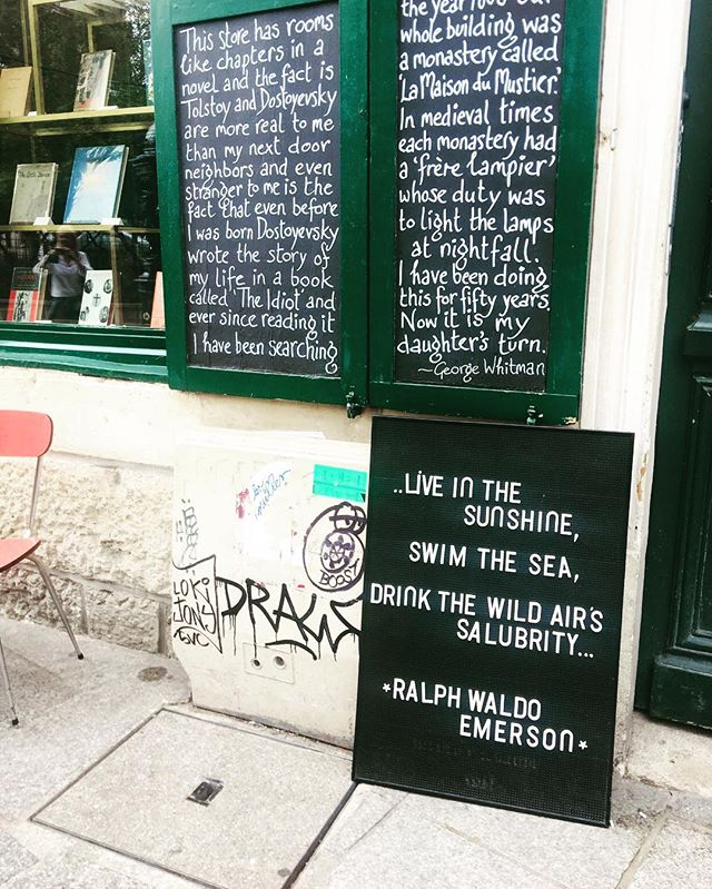 I snapped this in Paris this Summer.  Anything with Ralph Waldo Emerson catches my eye as he's my favorite philosopher. . He most often writes about the interconnectedness of soul and nature and how God is part of our everyday life experience. . As I think about how I want to shape 2019, I'm looking at being more intentional about bringing my spirit and soul more deeply into all that I do while continuing to treasure the simplicity of life. . Here's to transformation, beautiful evolution and soul resonating purpose with each task that calls for exerted focus and time. 💜 . . . #happynewyear #reflection #intention #soulpurpose #mindbodysoul #mindbodyspirit #wellness #nature #fulfillment