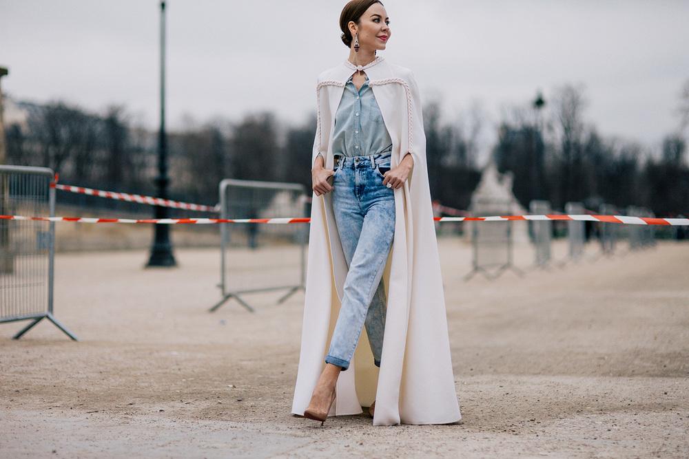 Ulyana Sergeenko during Paris Fashion Week