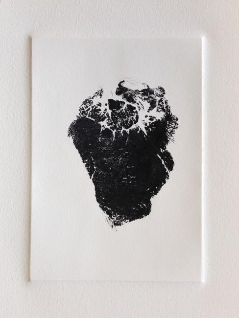 "Bear Heart, 8""x10"", 2013"