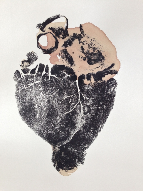 "Moose Heart,12""x18"", 2013"