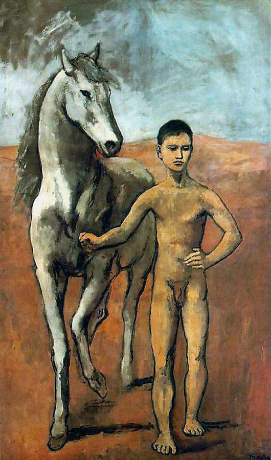 Pablo Picasso, Boy Leading a Horse, 1906, can be viewed at MoMa