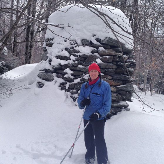 Skiing in the berkshires is the oneway to access the foundations and hearths of former homesteads. The relics are the bones of architecturalhistory of New England.