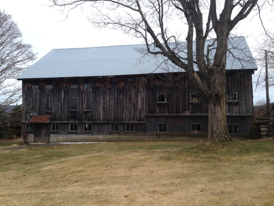 The beautiful barn of Peg Holcomb, where we took the century old siding off for a much needed facelift