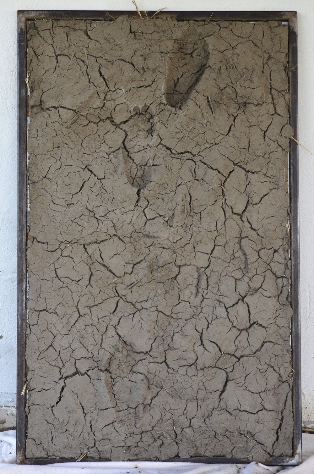From the studio, here is a sunken relief made this summer from Vermont soil