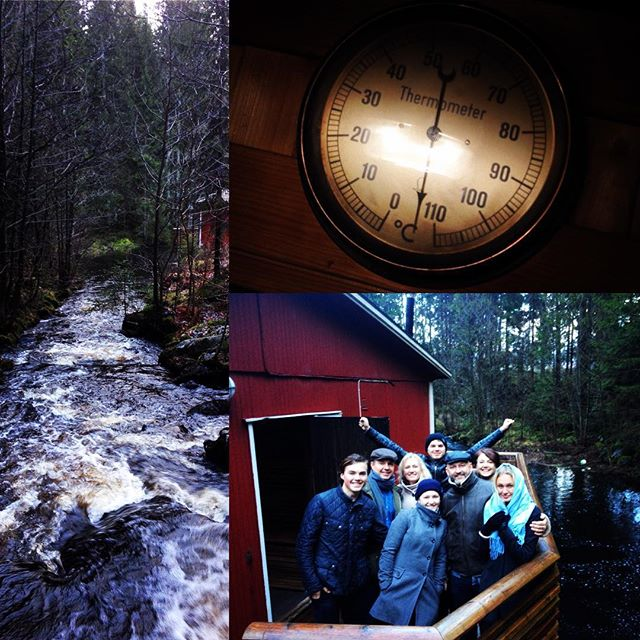 Christmas Day in Sweden. Family, Friends, Food and fun all followed by hours in a sauna and seconds in the river!