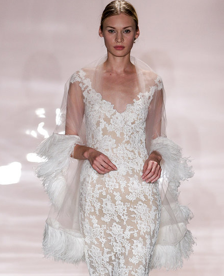 Reem Acra Fall 2014 via  Fashionologie