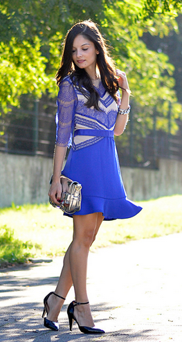 Blue Eyelash Dress via  ChicWish