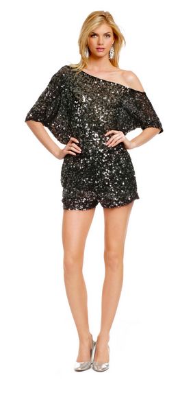 Sequin Disco Romper by Robert Rodriguez via  Rent the Runway