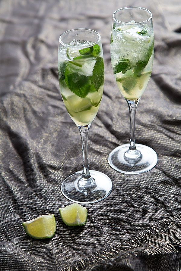 Champagne Mojito via  Strudel and Cream