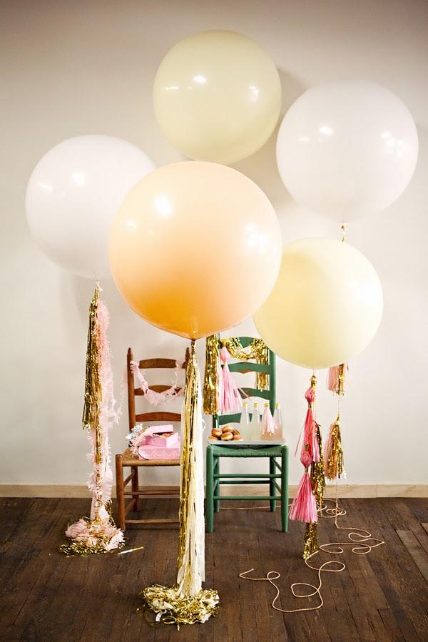 Balloons via  Geronimo Balloons