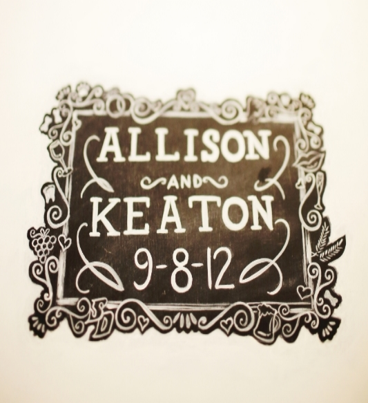 Custom Chalkboard Art Guestbook by Custom Chalk