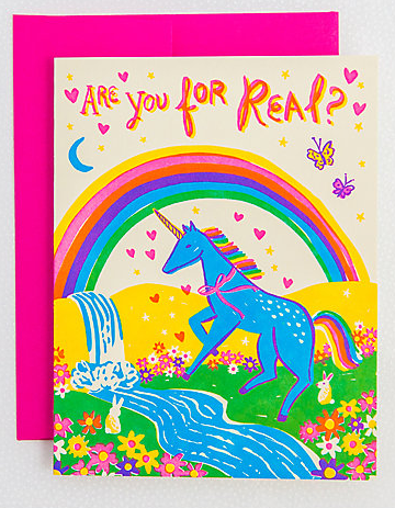 Unicorn Card by  Hello! Lucky