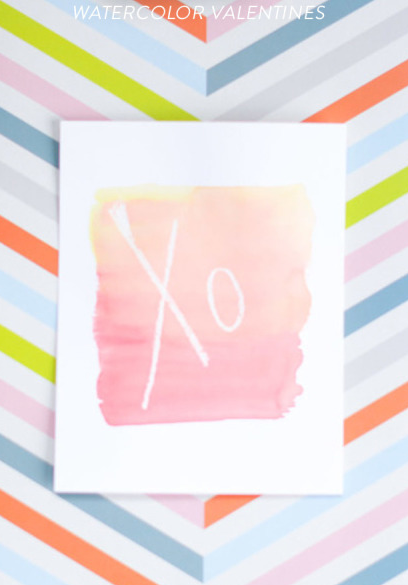 DIY Watercolor card via  Style Me Pretty