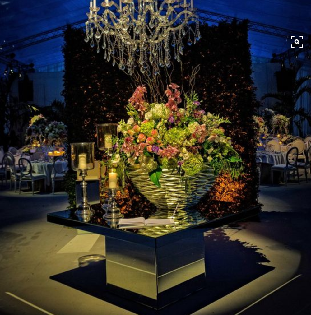 Entrance Table with Floral Treatment for Guestbook