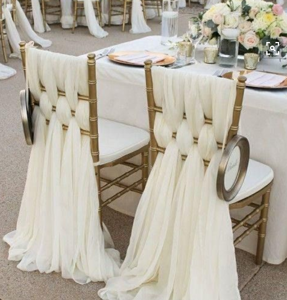 Sweetheart Chairs in criss cross design